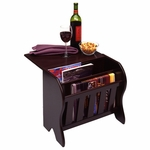 Magazine Rack with side Flip Top [92316-FS-WWT]