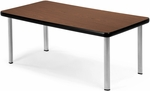 Magazine Table with Four Silver Legs - Mahogany [ET2040-MHGY-SLG-FS-MFO]
