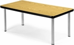 Magazine Table with Four Silver Legs - Oak [ET2040-OAK-SLG-FS-MFO]