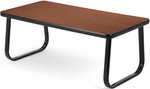 Magazine Table with Sled Base - Mahogany [TABLE2040-MHGY-FS-MFO]
