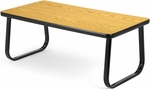 Magazine Table with Sled Base - Oak [TABLE2040-OAK-FS-MFO]