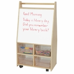 Magnetic Art Center with 4 Clear Trays - Assembled - 25''W x 15''D x 44''H [95411-WDD]