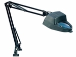 Height Adjustable Flexible Arm Magnifying Lamp with Clamp Mount - Black [12308-FS-SDI]