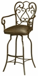 Magnolia 30''H Swivel Barstool with Arms [MA-217-30-AR-649-FS-PSTL]