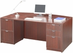Mahogany 70.75''W Bow Front Desk [ML355-MAHOGANY-FS-MAR]