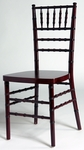 Mahogany Finish Birch Wood Stacking Chiavari Chair with 16''W Seat [SCMAH-AS]