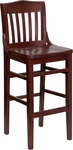 Mahogany Finished School House Back Wooden Restaurant Barstool [BFDH-2332CCHCS-BAR-TDR]