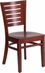 Mahogany Finished Slat Back Wooden Restaurant Chair [BFDH-90180-MAH-TDR]