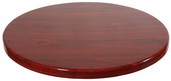Mahogany Resin 24'' Round Indoor Table Top