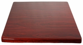 Mahogany Resin 24'' x 24'' Square Indoor Table Top