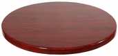 Mahogany Resin 30'' Round Indoor Table Top