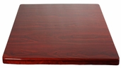 Mahogany Resin 30'' x 30'' Square Indoor Table Top