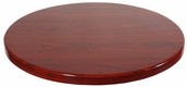 Mahogany Resin 36'' Round Indoor Table Top