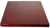 Mahogany Resin 36'' x 36'' Square Indoor Table Top