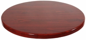 Mahogany Resin 42'' Round Indoor Table Top