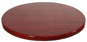 Mahogany Resin 48'' Round Indoor Table Top