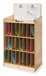 Mail and Message Center with Twenty Four Slots and Erasable Marker Board [WB0984-FS-WBR]