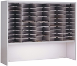Mailflow Systems Elevated 60'' W Sorter with 50 Pockets - Pebble Gray [SC6048GHPG-FS-MAY]