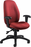 Malaga High Back Tilter Task Chair with Arms and Casters - Grade 3 [3140-4-GR3-FS-GLO]