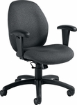 Malaga Low Back Task Chair with Arms and Casters - Grade 3 [3141-6-GR3-FS-GLO]