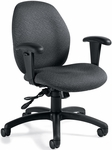 Malaga Low Back Tilter Task Chair with Arms and Casters - Grade 3 [3141-4-GR3-FS-GLO]