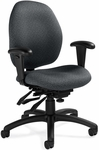 Malaga QuickShip Low Back Multi Tilter Task Chair with Arms and Casters [3141-3-FS-GLO]