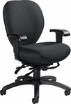 Mallorca QuickShip Medium Back Multi Tilter Task Chair with Arms - Pebbles Asphalt [2781-3-PB09-FS-GLO]