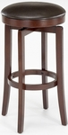 Malone Wood 31'' Bar Height Backless Stool with Brown Vinyl Swivel Seat - Cherry [63455-830-FS-HILL]