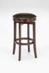 Malone Wood 25'' Counter Height Backless Stool with Brown Vinyl Swivel Seat - Cherry [63455-826-FS-HILL]