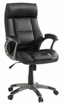 Gruga Bonded Leather Upholstered Adjustable Managers Chair with Lumbar Support - Black [414348-FS-SRTA]