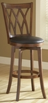 Mansfield Wood 30'' Bar Height Stool with Black Vinyl Swivel Seat - Brown Cherry [4975-832-FS-HILL]