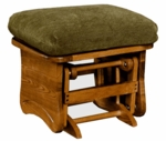 Maple Ottoman w/Solid Side Panel in Maple - 18'' H [1505-FS-BFM]