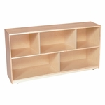 Solid Maple Single Storage Unit with Casters - Assembled - 48''W x 12''D x 24''H [12420-WDD]