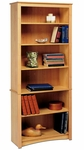 Sonoma 31.5''W 6-Shelf Bookcase with 4 Adjustable Shelves - Maple [MDL-3277-K-FS-PP]