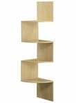 Hanging Corner Wood 4 Shelf Space Saver - Maple [99100-FS-DCON]