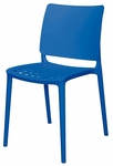 Marcay Outdoor Stackable Side Chair - Blue [SC-2604-162-BLU-SCON]