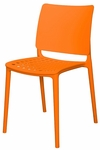 Marcay Outdoor Stackable Side Chair - Orange [SC-2604-162-ORN-SCON]