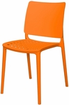 Marcay Resin Outdoor Stackable Armless Side Chair - Orange [SC-2604-162-ORN-SCON]