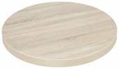 Marco 24''D Indoor Table Top with Sawcut Oak Melamine Finish
