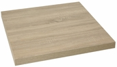Marco 24'' Square Indoor Table Top with Sawcut Oak Melamine Finish