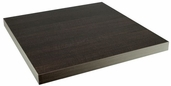 Marco 24'' Square Indoor Table Top with Wenge Melamine Finish