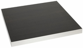 Marco 30'' x 48'' Rectangular Indoor Table Top with Wenge Melamine Finish and Aluminum Frame