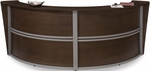 Marque Double-Unit Reception Station - Walnut [55292-WALNUT-FS-MFO]