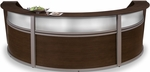 Marque Plexi Triple Reception Station - Walnut [55313-WLNT-FS-MFO]