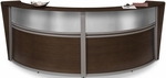 Marque Plexi Double Reception Station - Walnut [55312-WLNT-FS-MFO]