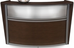 Marque Plexi Single Reception Station - Walnut [55310-WLNT-FS-MFO]