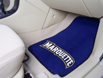 Marquette University 2-piece Carpeted Car Mats 18'' x 27'' [5266-FS-FAN]