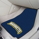 Marquette University Carpet Car Mat 2 Pc 18'' x 27'' [5266-FS-FAN]