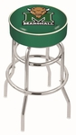 Marshall University 25'' Chrome Finish Double Ring Swivel Backless Counter Height Stool with 4'' Thick Seat [L7C125MRSHLL-FS-HOB]