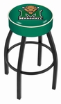 Marshall University 25'' Black Wrinkle Finish Swivel Backless Counter Height Stool with 4'' Thick Seat [L8B125MRSHLL-FS-HOB]